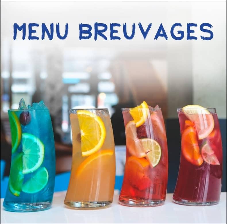 La page menu breuvage du Souvlaki Bar